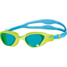 arena The One Goggles Kinder lightblue-lime-blue